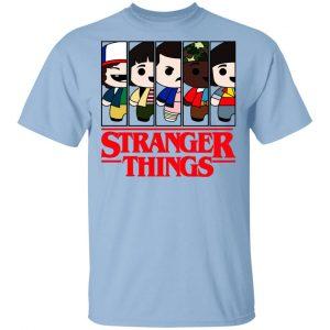 Stranger Things Cartoon Pattern Shirt