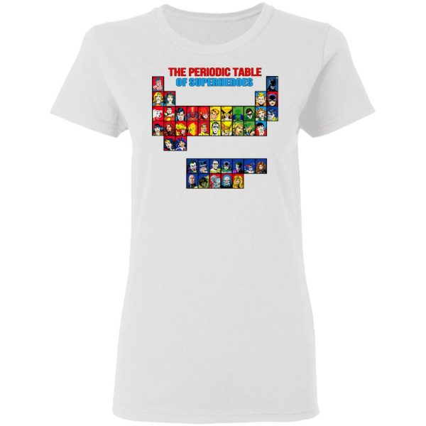 The Periodic Table Of Superheroes Shirt