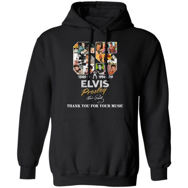 65 Years Of Elvis Presley 1954 2019 Thank You For Your Music Shirt