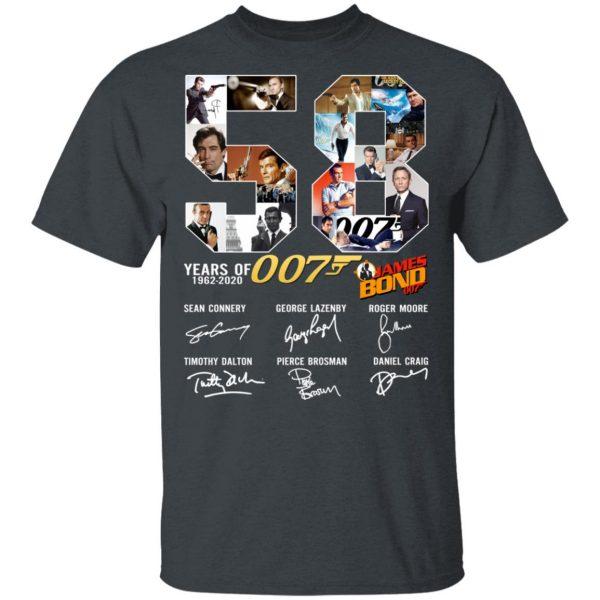 58 Years Of James Bond Anniversary Shirt