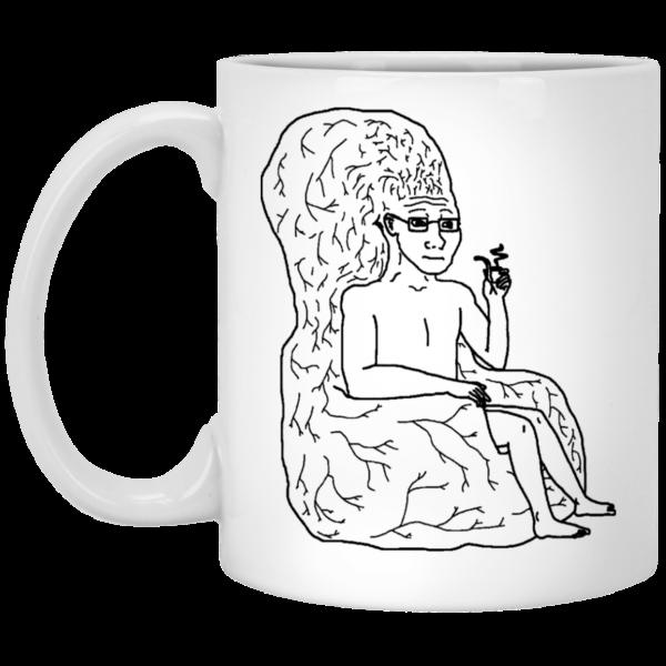 Big Brain Wojak Mug Coffee Mugs 3