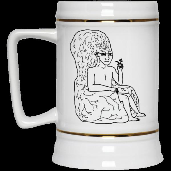 Big Brain Wojak Mug Coffee Mugs 6