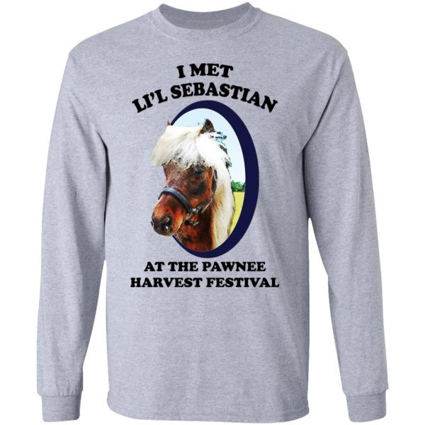 Parks and Recreation I Met Li'l Sebastian At The Pawnee Harvest Festival T-Shirts Apparel 9
