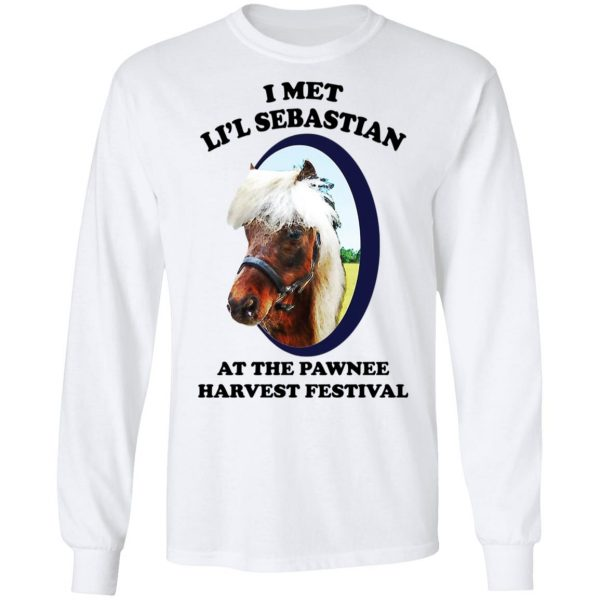 Parks and Recreation I Met Li'l Sebastian At The Pawnee Harvest Festival T-Shirts Apparel 10