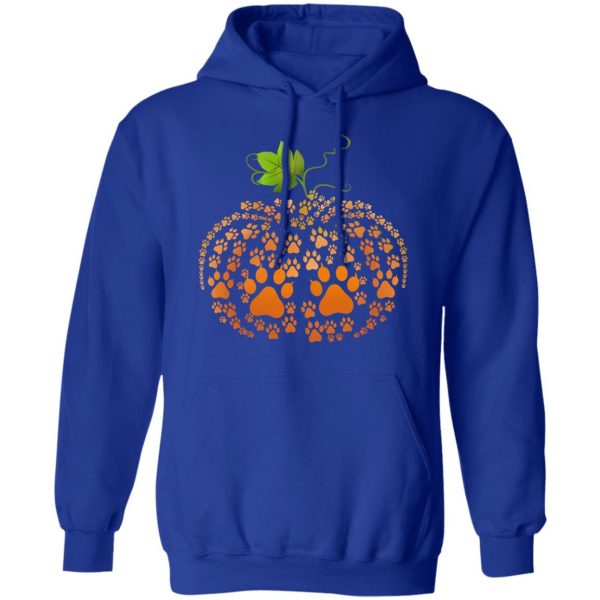 Cat Paw Print Pumpkin Halloween T-Shirts