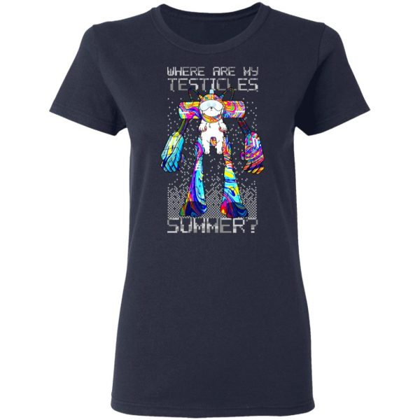 Where Are My Testicles Summer Rick And Morty T-Shirts