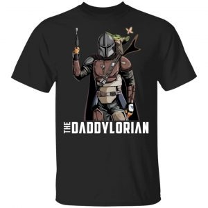 The Daddylorian Daddy Baby Yoda Mandalorian T-Shirts