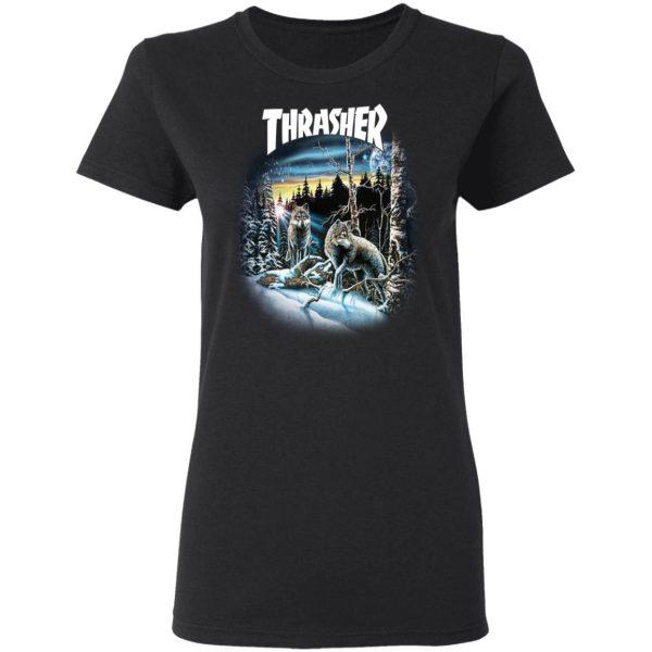Thrasher 13 Wolves T-Shirts