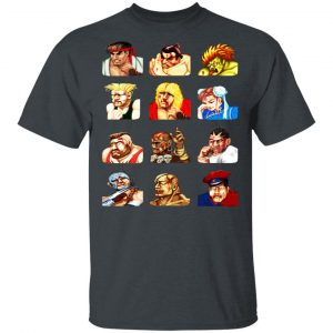 Street Fighter 2 Continue Faces T-Shirts