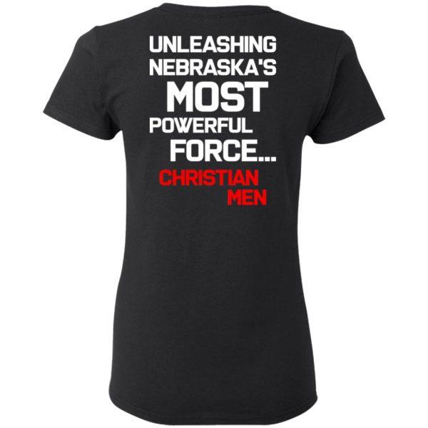 Unleashing Nebraska's Most Powerful Force Christian Men T-Shirts