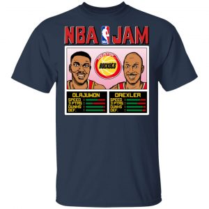 NBA Jam Rockets Olajuwon And Drexler T-Shirts