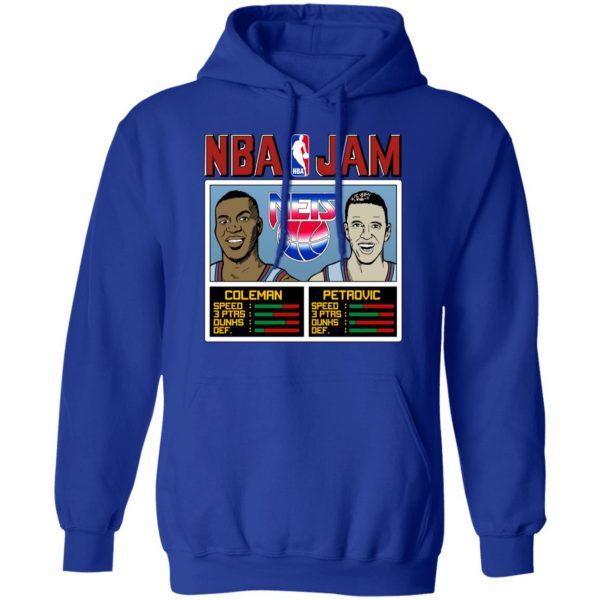 NBA Jam Nets Coleman And Petrovic T-Shirts