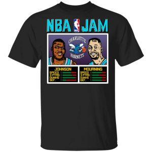 NBA Jam Hornets Johnson And Mourning T-Shirts