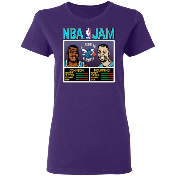 NBA Jam Hornets Johnson And Mourning T-Shirts