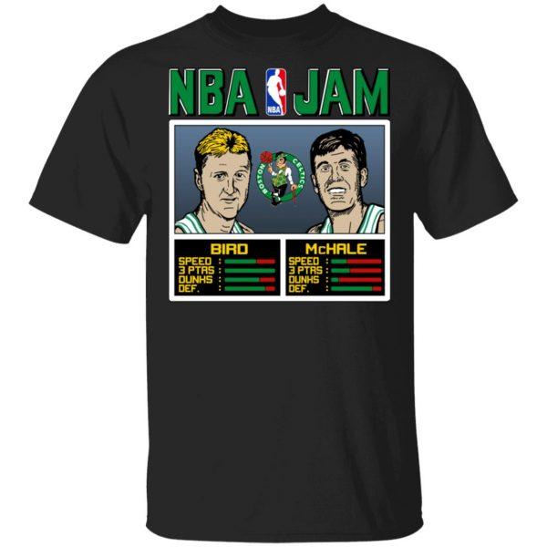 NBA Jam Celtics Bird And McHale T-Shirts