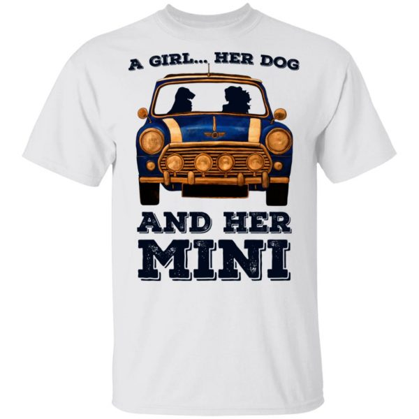 A Girl Her Dog And Her Mini T-Shirts