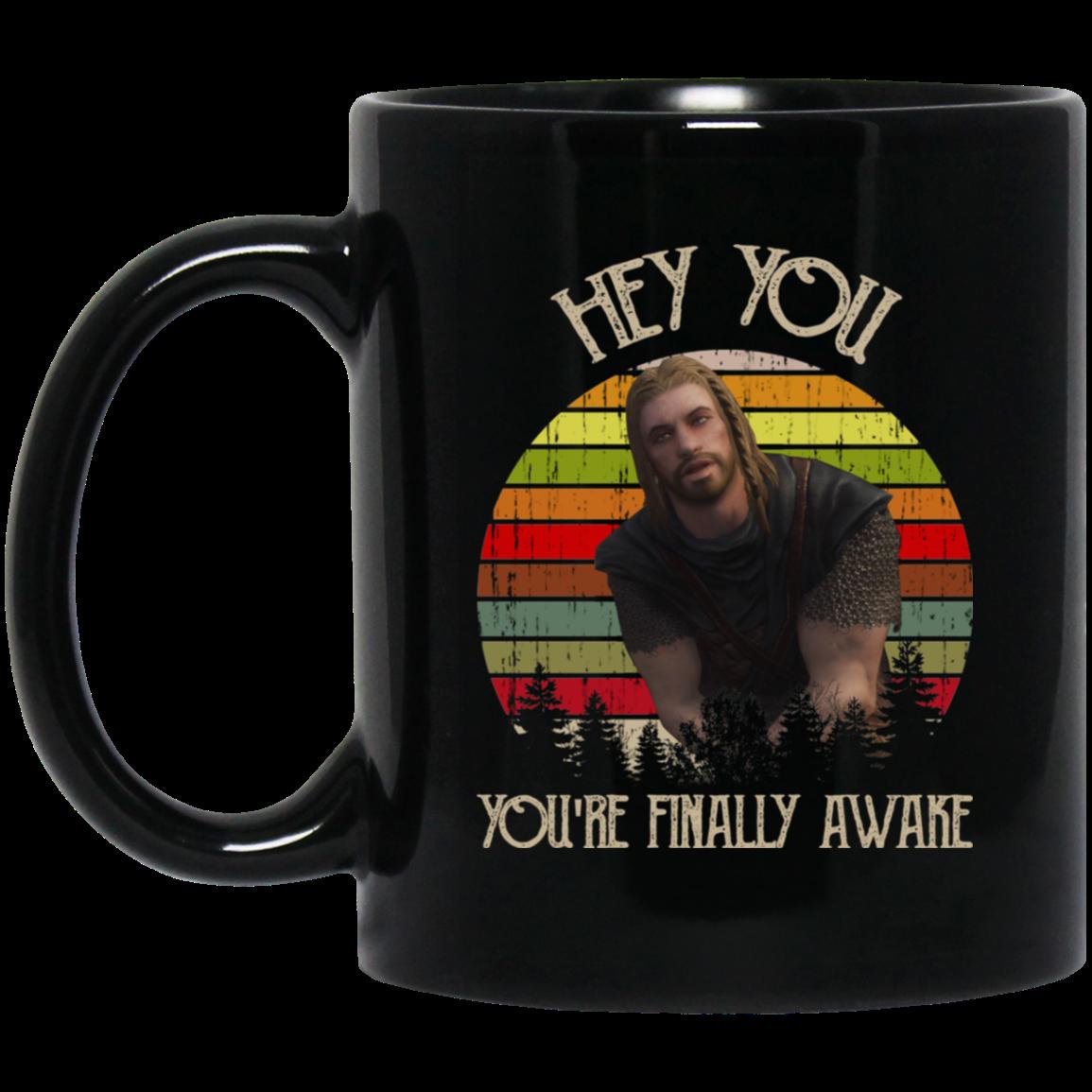 Skyrim Ralof Hey You You're Finally Awake Mug | El Real ...