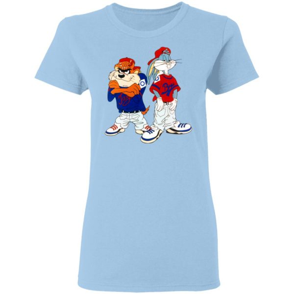 Looney Tunes Bugs Bunny and Tazmanian Devil Kris Kross T-Shirts