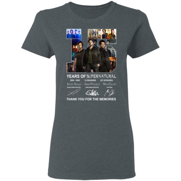15 Years Of Supernatural Thank You For My Memories T-Shirts