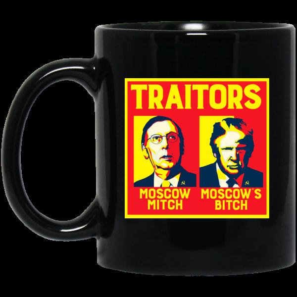 Traitors Ditch Moscow Mitch Black Mug