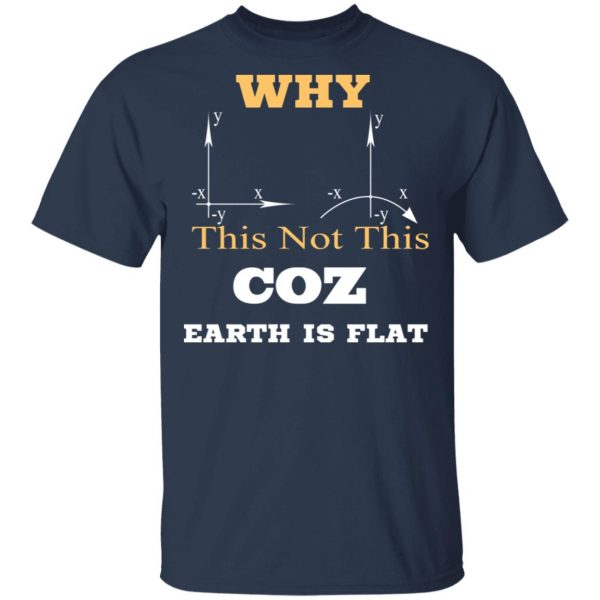 Why This Not This Coz Earth Is Flat T-Shirts