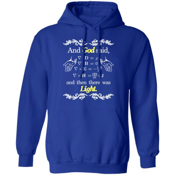 God Said Maxwell Equations Christian Physics Nerd T-Shirts, Hoodies, Sweatshirt