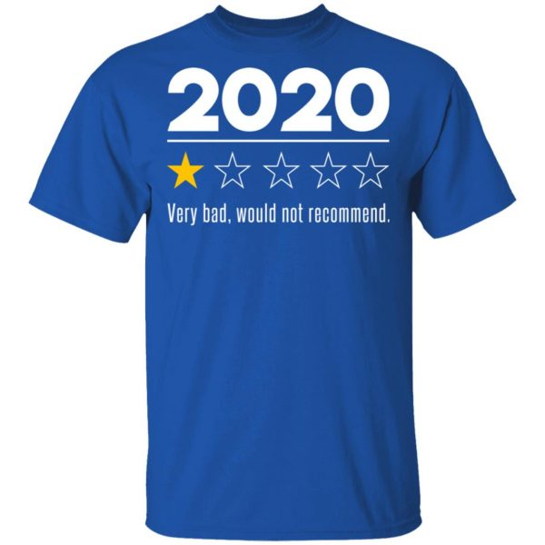 2020 This Year Very Bad Would Not Recommend T-Shirts, Hoodies, Sweatshirt Apparel 6