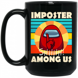 Imposter Shhhh Among Us Mug