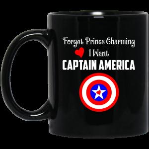 Forget Prince Charming I Want Captain America Mug