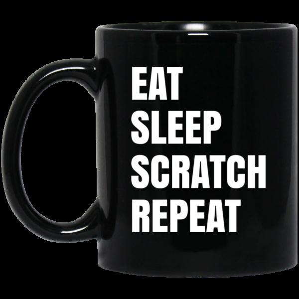 Eat Sleep Scratch Repeat Mug Coffee Mugs 3