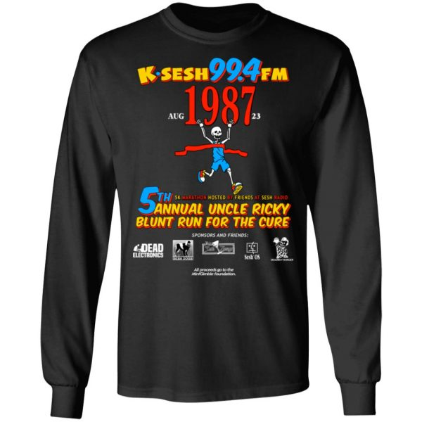 K·SESH 99.4FM 1987 5th Annual Uncle Ricky Lunt Run For The Cure T-Shirts, Hoodies, Sweater