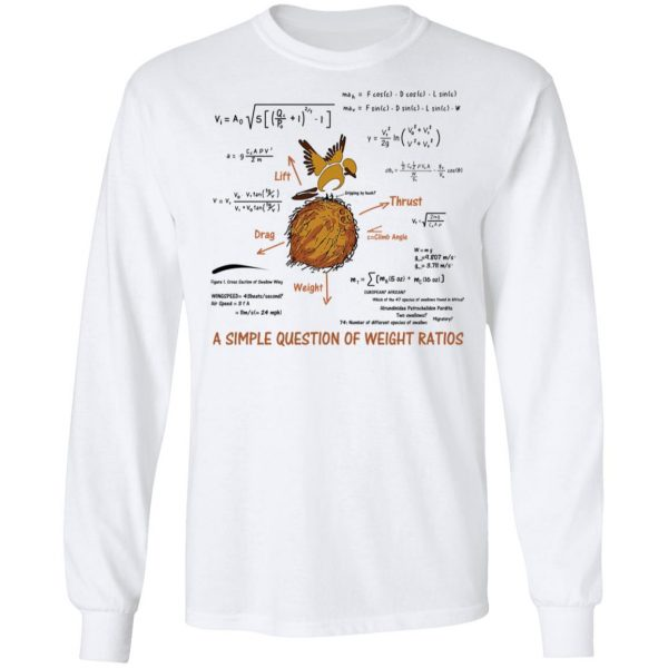 A Simple Question Of Weight Ratios Funny Math Teacher T-Shirts, Hoodies, Sweater
