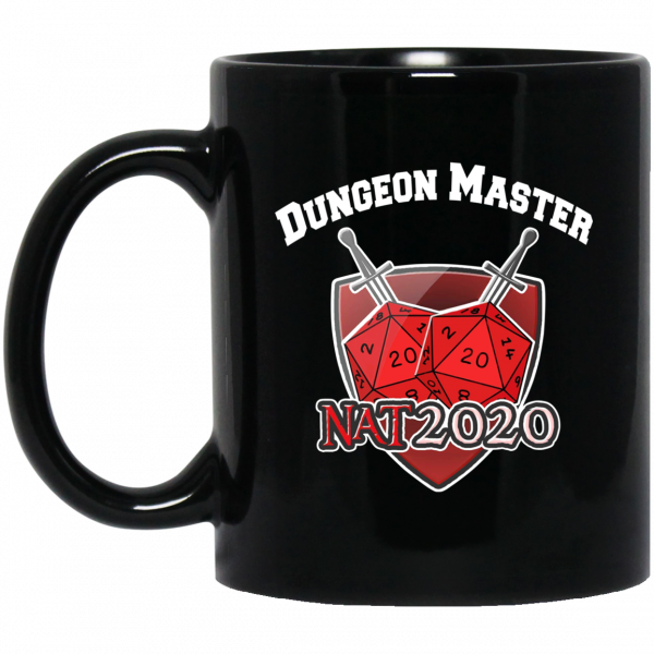 Dungeon Master Nat 20 DnD D20 Dungeons Dragons 11 15 oz Mug