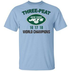 New York Jets Three Peat 16 17 18 World Champions T-Shirts, Hoodies, Sweater