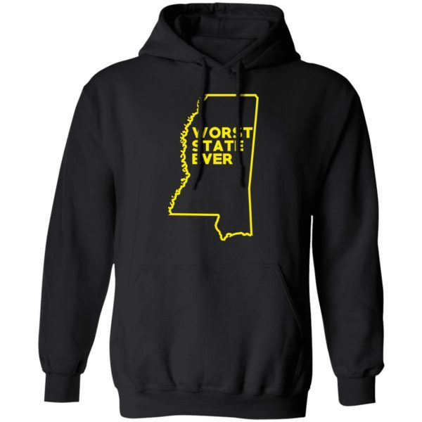Mississippi Worst State Ever T-Shirts, Hoodies, Sweater Apparel 12
