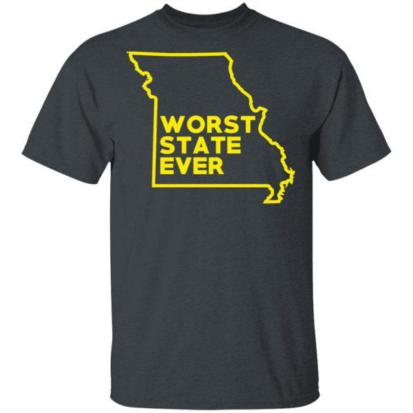 Missouri Worst State Ever T-Shirts, Hoodies, Sweater Apparel 4