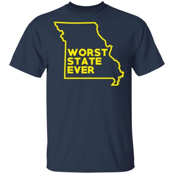 Missouri Worst State Ever T-Shirts, Hoodies, Sweater Apparel 5