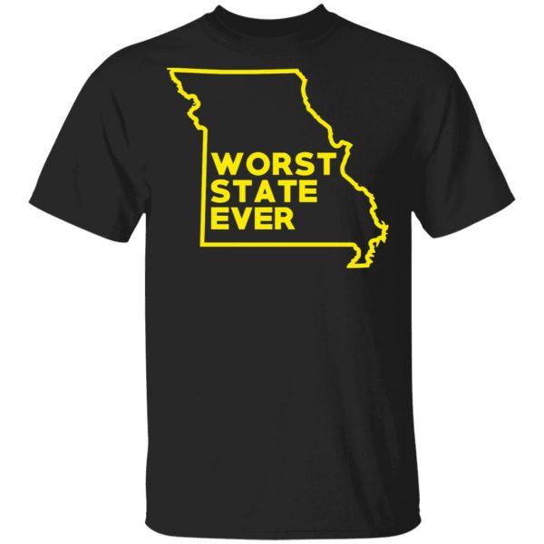 Missouri Worst State Ever T-Shirts, Hoodies, Sweater Apparel 3