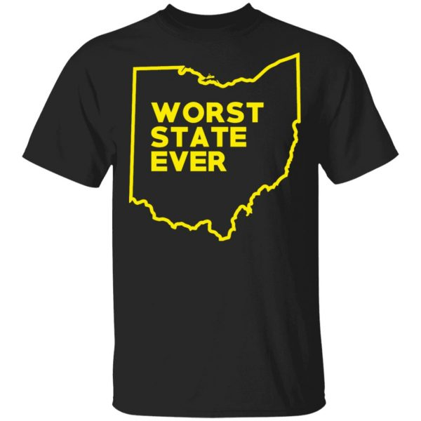 Ohio Worst State Ever T-Shirts, Hoodies, Sweater Apparel 3
