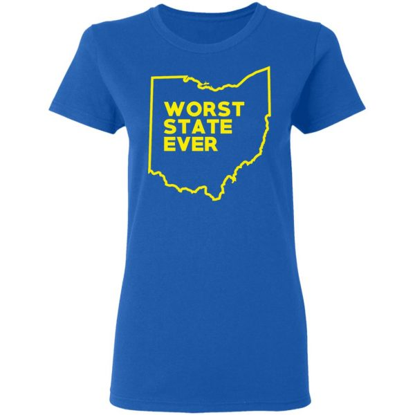 Ohio Worst State Ever T-Shirts, Hoodies, Sweater Apparel 10