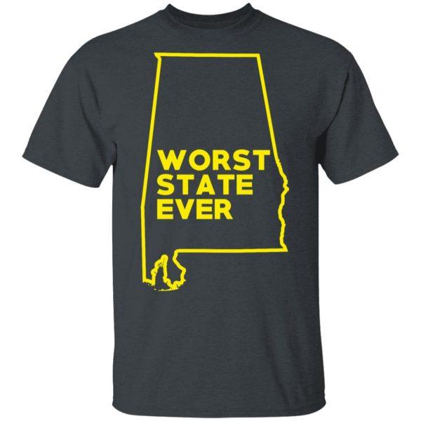 Alabama Worst State Ever T-Shirts, Hoodies, Sweater Apparel 4