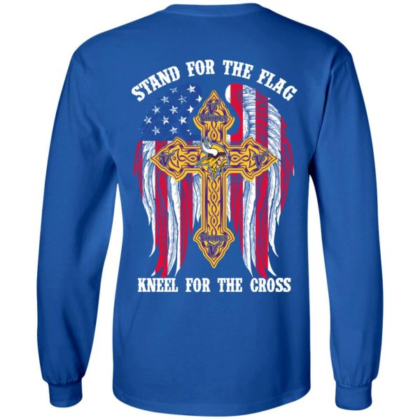 Minnesota Vikings Stand For The Flag Kneel For The Cross T-Shirts, Hoodies, Sweater Apparel 9