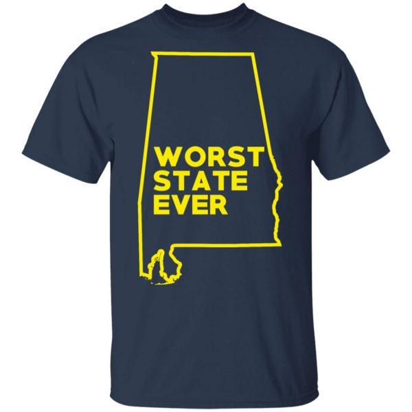 Alabama Worst State Ever T-Shirts, Hoodies, Sweater Apparel 5