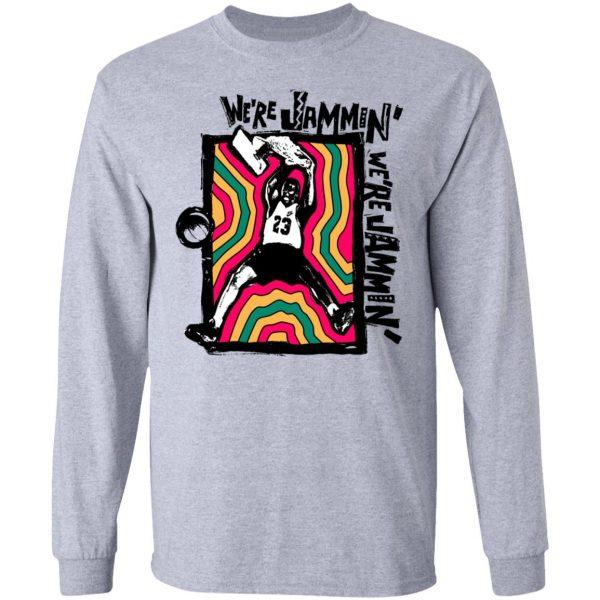 We're Jammin' Bob Marley Michael Jordan 23 T-Shirts, Hoodies, Sweater Apparel 9