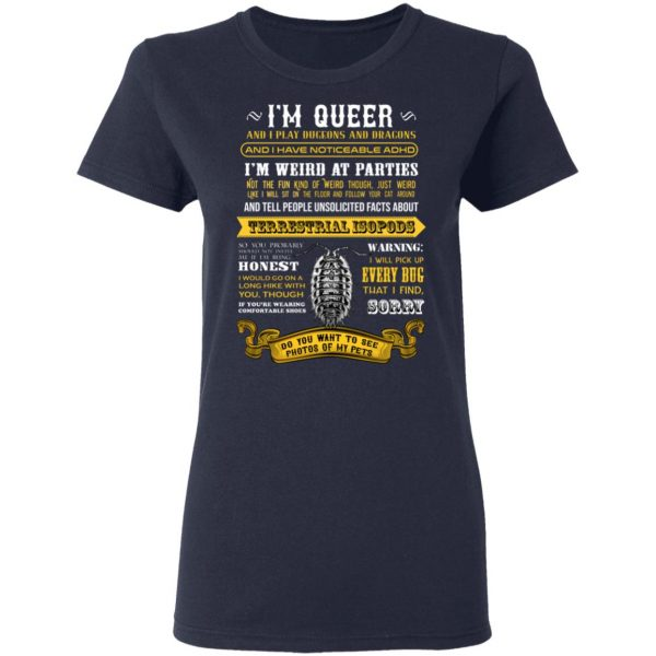 I'm Queer And I Play Dungeons And Dragons Have Noticeable Adhd T-Shirts, Hoodies, Sweater Apparel 9