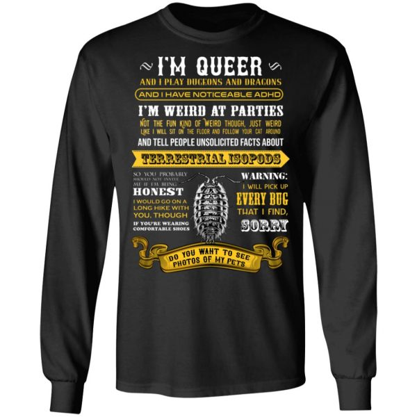 I'm Queer And I Play Dungeons And Dragons Have Noticeable Adhd T-Shirts, Hoodies, Sweater Apparel 11