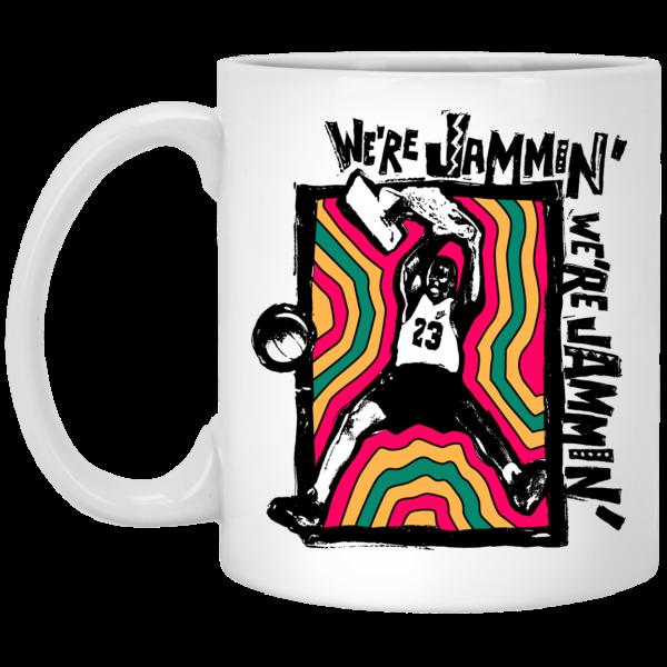 We're Jammin' Bob Marley Michael Jordan 23 Mug Coffee Mugs 3