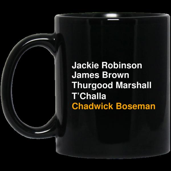 Jackie Robinson James Brown Thurgood Marshall T'Challa Chadwick Boseman Mug Coffee Mugs 3