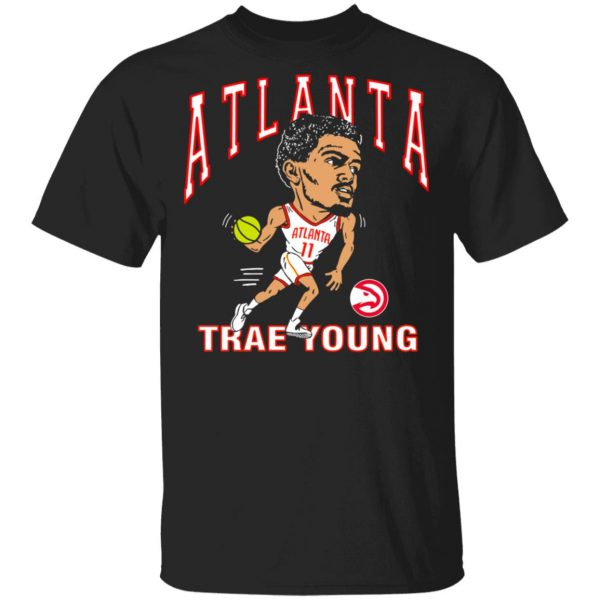 Atlanta Trae Young Hawks Caricature T-Shirts, Hoodies, Sweater Apparel 3