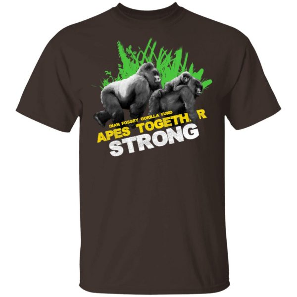 Gorilla Dian Fossey Gorilla Fund Apes Together Strong T-Shirts, Hoodies, Sweater Apparel 4